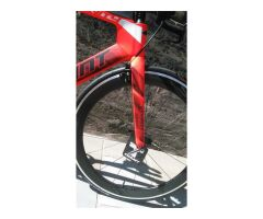 GIANT TRINITY ADVANCED Race-Ready Upgrade mit Giant SL1Aero Carbon Laufrädern Neon Red Tri TT Bike 2018