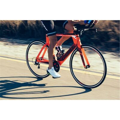GIANT TRINITY ADVANCED Race-Ready Upgrade mit Giant SL1Aero Carbon Laufrädern Neon Red Tri TT Bike 2018 / S