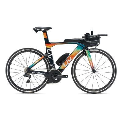 LIV AVOW ADVANCED PRO 1 Damen-Triathlon-Rad 2019 | Darkgreen-Green-Orange Matt