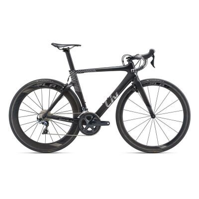 LIV ENVILIV ADVANCED PRO Damen-Aero-Rennrad 2019 | Carbonblack-Chrome Matt
