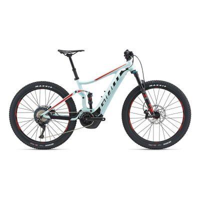 GIANT STANCE E+ 0 E-Bike Fully 2019 | Icegreen-Black-Purered Matt