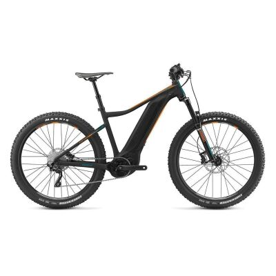 GIANT FATHOM E+ 3 POWER 29ER E-Bike Hardtail 2019 | Black-Neonorange-Petrolblue Matt