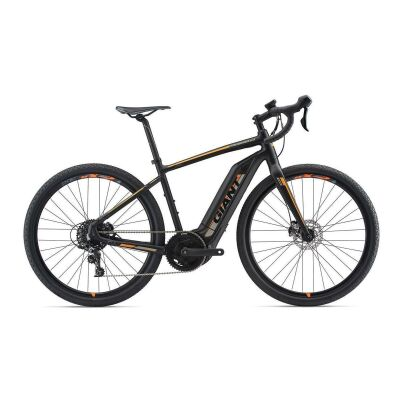 GIANT TOUGHROAD E+ GX E-Bike Gravelbike 2019 | Black-Neonorange-Grey Matt-Gloss