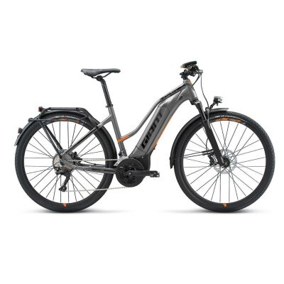 GIANT EXPLORE E+ 0 STA E-Bike Damen Trekkingrad 2019 | Grey-Orange-Black Matt