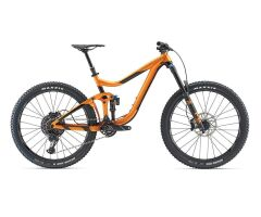 GIANT REIGN 1.5 MTB Fully 2019 | Metallicorange-Black