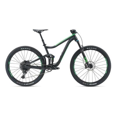 GIANT TRANCE 2 29ER MTB Fully 2019 | Metallicblack-Flashgreen Matt-Gloss