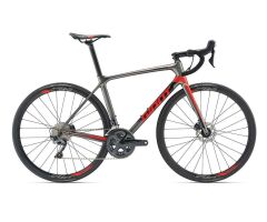 GIANT TCR ADVANCED 1 DISC Rennrad 2019 | Charcoalgrey-Red