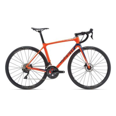 GIANT TCR ADVANCED 2 DISC Rennrad 2019 | Neonred-Blue Matt