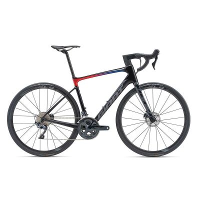 GIANT DEFY ADVANCED PRO 1 Endurance-Rennrad 2019 | Carbonblack-Red-Blue Matt-Gloss