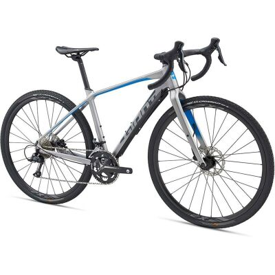 GIANT TOUGHROAD SLR GX 2 Cross/Adventure Bike 2019 | BrushAluminium-Blue-Grey Matt