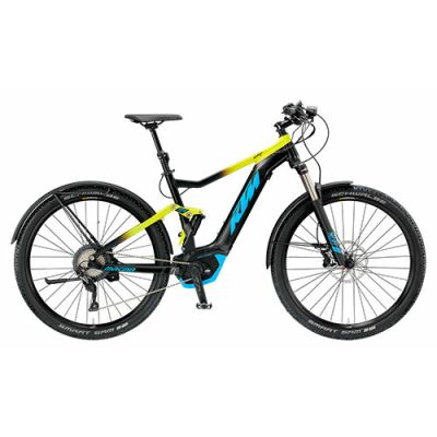 KTM MACINA CHACANA LFC E-MTB Fully 2019 | Black Matt+Yellow+Azzuro