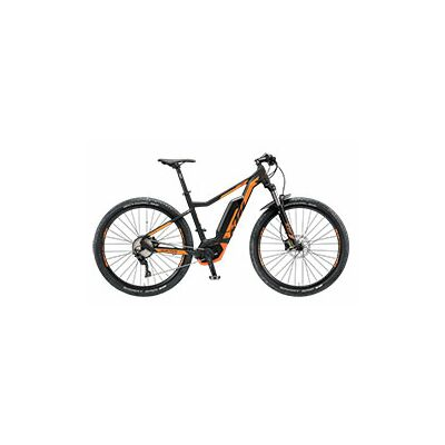 KTM MACINA ACTION 291 E-MTB Hardtail 2019   Black Matt+Orange