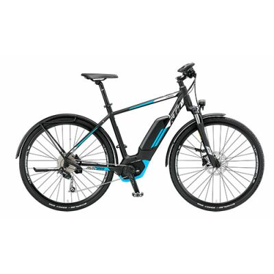 KTM MACINA CROSS LFC 9 CX5 Herren E-Bike 2019 | Black Matt+White+Azzuro