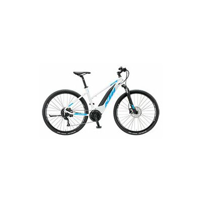 KTM MACINA CROSS 9 A+5 Damen E-Bike 2019 | White Matt+Azzuro