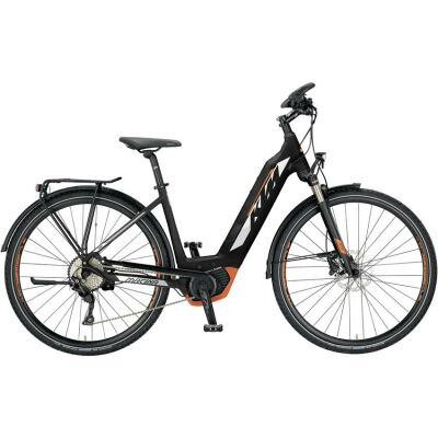KTM MACINA SPORT 10 CX5 Damen Trekking E-Bike 2019 | Black Matt+White+Orange