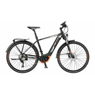 KTM MACINA SPORT 10 CX5 Tiefeinsteiger Trekking E-Bike 2019 | Black Matt+White+Orange