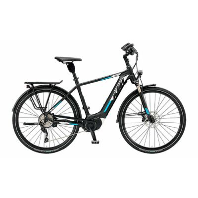 KTM MACINA STYLE 10 CX5 Herren Trekking E-Bike 2019   Black Matt+White+Azzuro