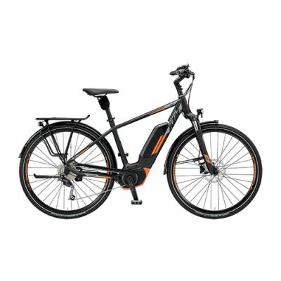 KTM MACINA FUN 9 CX5 Tiefeinsteiger Trekking E-Bike 2019 | Black Matt+Grey+Orange