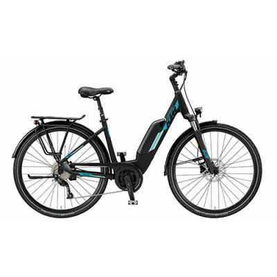 KTM MACINA JOY 9 A+4 Tiefeinsteiger Trekking E-Bike 2019   Black Matt+Mint
