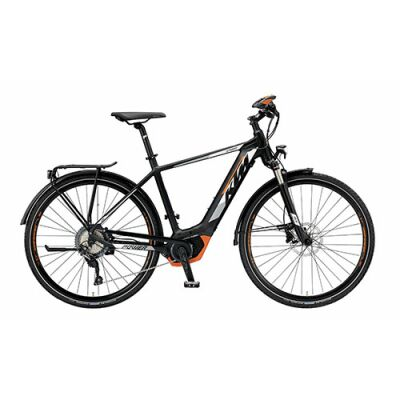 KTM POWER SPORT 11 Herren Trekking E-Bike 2019 | Black Matt+White+Orange