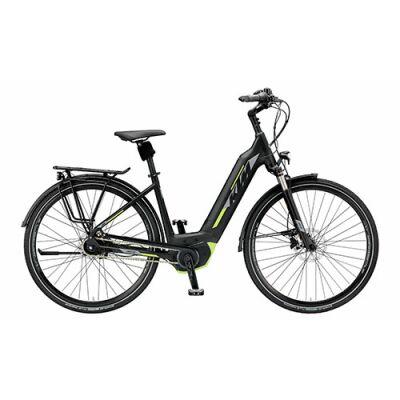 KTM CENTO 5 PLUS Tiefeinsteiger Trekking E-Bike 2019 | Black Matt+Grey+Green