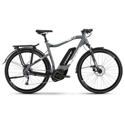 Haibike SDURO Trekking 3.0 Herren 500Wh E-Bike 9G Aliv. 2019 | I grau/weiß/schwarz matt