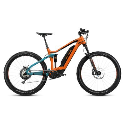 FLYER UPROC4 4.10 Fully E-Bike 2019 | Marble Grey / Magma Red D1 + PM