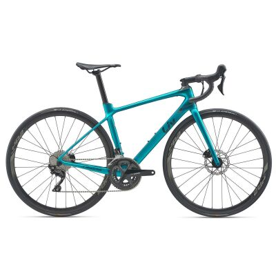 LIV LANGMA ADVANCED 2 DISC Damen-Aero-Rennrad 2020 | Jade Teal / Solidblack