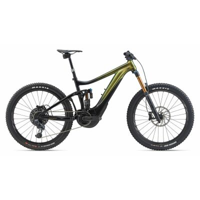 GIANT REIGN E+ 0 PRO E-Bike Fully 2020 | Chameleon Saturn / Solidblack