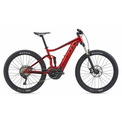 GIANT STANCE E+ 2 E-Bike Fully 2020 | Metallicred / Solidblack