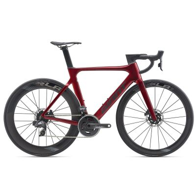 GIANT PROPEL ADVANCED PRO DISC Aero-Rennrad 2020 | Metallicred / Solidblack Gloss-Matt