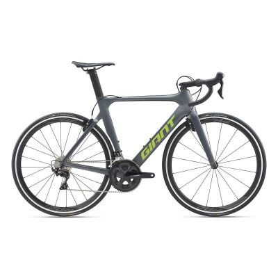 GIANT PROPEL ADVANCED 2 Aero-Rennrad 2020 | Charcoalgrey / Green Matt-Gloss