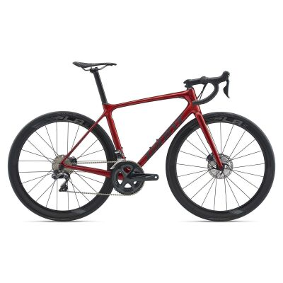 GIANT TCR ADVANCED PRO DISC Rennrad 2020 | Metallicred / Solidblack Gloss-Matt