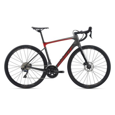 GIANT DEFY ADVANCED 1 Endurance-Rennrad 2020 | Charcoalgrey / Purered