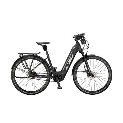 KTM MACINA CITY 5 ABS US E-Bike Damen Trekkingrad 2021 | black matt (grey+white)