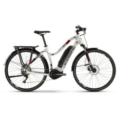 Haibike SDURO Trekking 2.0 Damen 500Wh E-Bike 10G Deo. 2020 | silber/schwarz/rot