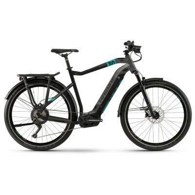 Haibike SDURO Trekking 7.0 Herren i500Wh E-Bike 11G SLX 2020 | schwarz/türkis/anthrazit