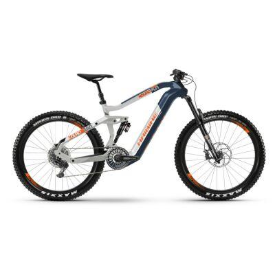 Haibike XDURO Nduro 5.0 i630Wh Flyon E-Bike 11-G NX 2021   blau/weiß/orange