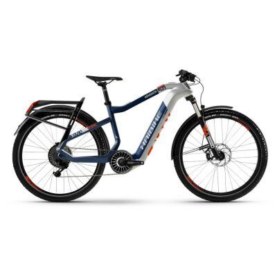 Haibike XDURO Adventr 5.0 i630Wh Flyon E-Bike 11-G NX 2021 | weiß/blau/orange