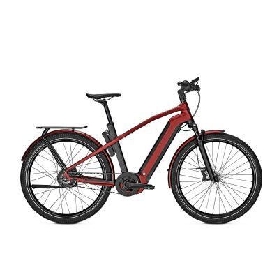 KALKHOFF ENDEAVOUR 7.B BELT Diamond E-Trekking Bike 2021 | magicblack/winered matt