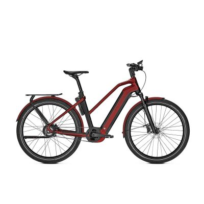 KALKHOFF ENDEAVOUR 7.B BELT Trapez E-Trekking Bike 2021 | magicblack/winered matt