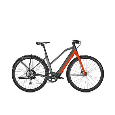KALKHOFF BERLEEN 5.G ADVANCE Trapez E-Urban Bike 2020 | jetgrey/hotchillired matt