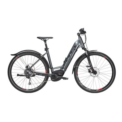 "BULLS Cross Flyer EVO DA E-Cross Bike 28"" Tiefeinsteiger Gang Kettenschaltung grey matt 625Wh E-Bike 