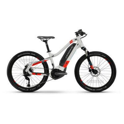 Haibike HardFour 400Wh E-Bike 9-G Altus 2021 | cool grey/red/cyan