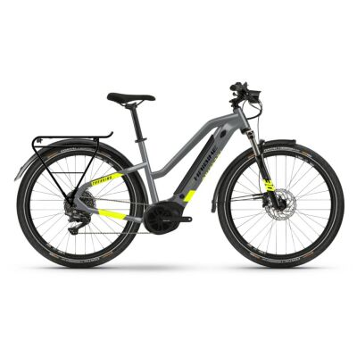 Haibike Trekking 6 i500Wh E-Bike Low Standover 10-G Deore 2021 | cool grey/red