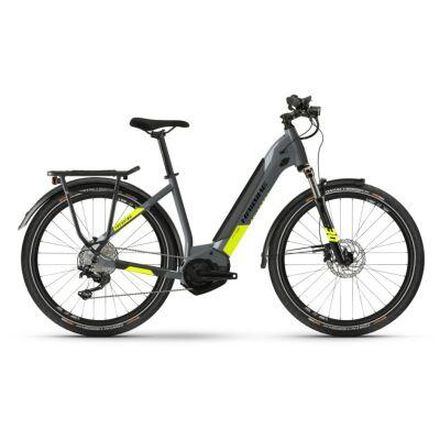 Haibike Trekking 6 i500Wh E-Bike Low Step 10-G Deore 2021 | cool grey/red