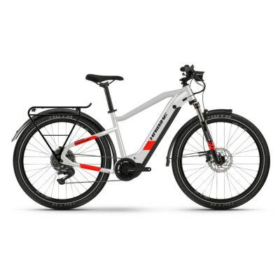Haibike Trekking 7 i630Wh E-Bike 11-G Deore 2021 | cool grey/red matte