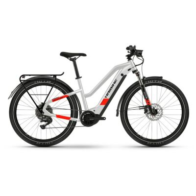 Haibike Trekking 7 i630Wh E-Bike Low Standover 11-G Deore 2021 | cool grey/red matte