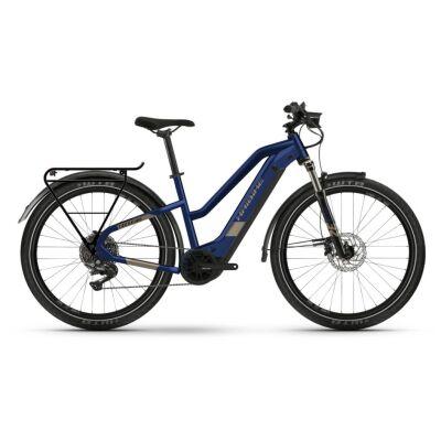Haibike Trekking 7 i630Wh E-Bike Low Standover 11-G Deore 2021 | blue/sand
