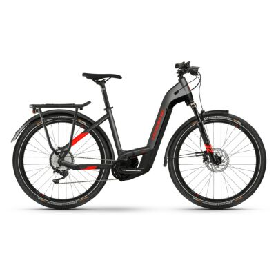 Haibike Trekking 9 i625Wh E-Bike Low Step 11-G Deore 2021 | anthracite/red